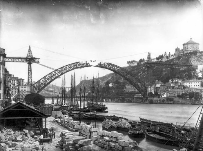 Ponte Luís I - Construção - 1883 - Emílio Biel